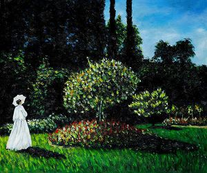 Jeanne-Marguerite Lecadre (Lady in a Garden) - Claude Monet Oil Painting