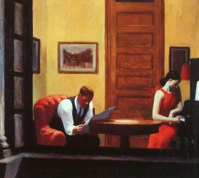 Room in New York - Edward Hopper Oil Painting