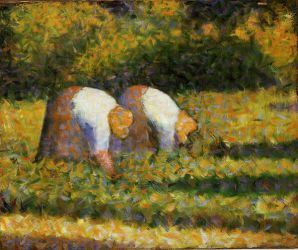 Farm Women at Work - Oil Painting Reproduction On Canvas