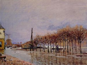 Flood at Port-Marly - Alfred Sisley Oil Painting