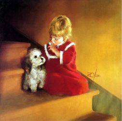 Christmas Secret - Donald Zolan Oil Painting