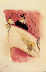 The Box with the Guilded Mask - Henri De Toulouse-Lautrec Oil Painting