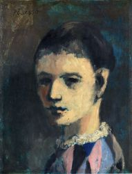 Harlequin's Head - Pablo Picasso Oil Painting