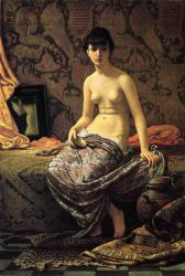 Roman Model Posing - Oil Painting Reproduction On Canvas Elihu Vedder Oil Painting