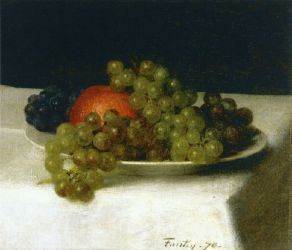 Apples and Grapes II - Henri Fantin-Latour Oil Painting