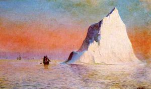 Icebergs - William Bradford Oil Painting