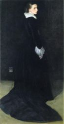 Arrangement in Black, No. 2: Portrait of Mrs. Louis Huth - Oil Painting Reproduction On Canvas