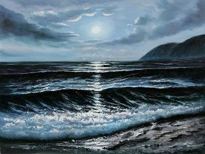 Dark Waters - Oil Painting Reproduction On Canvas