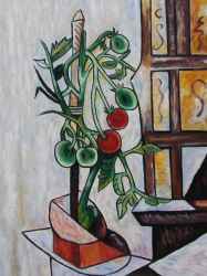 Tomato Plant II - Pablo Picasso Oil Painting