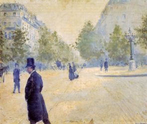 Place Saint-Augustin, Misty Weather - Gustave Caillebotte Oil Painting