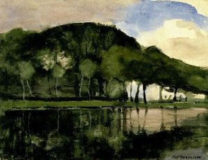 Along the Amstel - Piet Mondrian Oil Painting