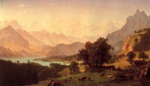 Bernese Alps - Albert Bierstadt Oil Painting
