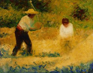 The Stone Breaker II - Georges Seurat Oil Painting