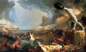 The Course of Empire: Destruction - Thomas Cole Oil Painting