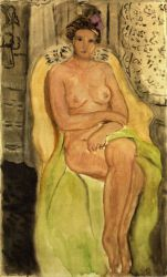 Nude in an Armchair, Legs Crossed - Henri Matisse Oil Painting