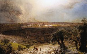 Jerusalem from the Mount of Olives II - Frederic Edwin Church Oil Painting
