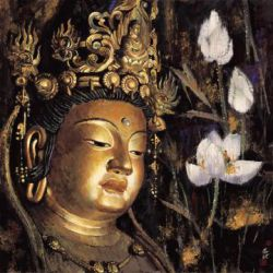 Buddhist Statue 4 - Oil Painting Reproduction On Canvas