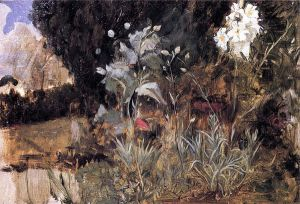 Flower Sketch for 'The Enchanted Garden - Oil Painting Reproduction On Canvas