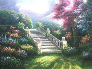 Stairway to Paradise - Oil Painting Reproduction On Canvas