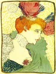 The Actress Marcelle Lender - Henri De Toulouse-Lautrec Oil Painting