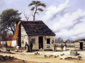 Board and Batten Northern South Carolina Cabin - William Aiken Walker Oil Painting
