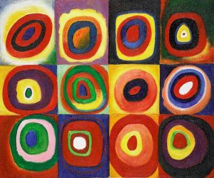 Farbstudie Quadrate Gallery Wrap - Wassily Kandinsky Oil Painting