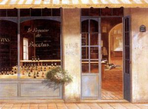 Liquor Store - Oil Painting Reproduction On Canvas