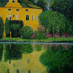 Schloss Kammer on Attersee III - Oil Painting Reproduction On Canvas