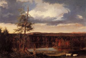 Landscape, the Seat of Mr. Featherstonhaugh in the Distance - Thomas Cole Oil Painting
