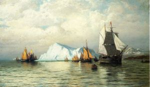 Arctic Caravan - William Bradford Oil Painting