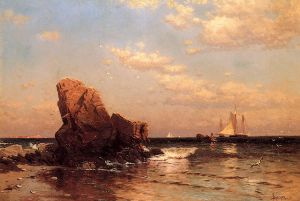 By the Shore - Alfred Thompson Bricher Oil Painting