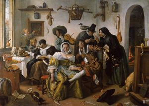 In Luxury Beware - Jan Steen oil painting