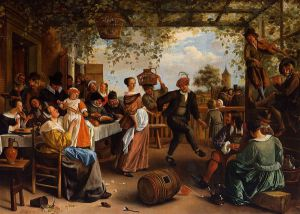 The Dancing Couple - Jan Steen oil painting