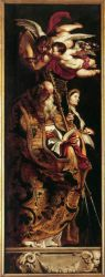 Raising of the Cross: Sts Amand and Walpurgis - Peter Paul Rubens Oil Painting