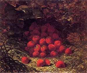 Strawberries - William Mason Brown Oil Painting