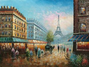 A Morning in Paris - Oil Painting Reproduction On Canvas