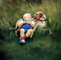 Best Friends - Donald Zolan Oil Painting