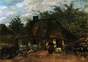 Cottage and Woman with Goat - Vincent Van Gogh Oil Painting