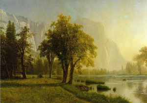 El Capitan, Yosemite Valley - Albert Bierstadt Oil Painting