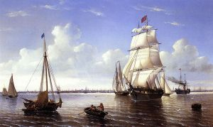 Boston Harbor - William Bradford Oil Painting