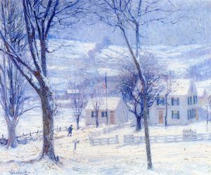 Late for School - Robert Vonnoh Oil Painting
