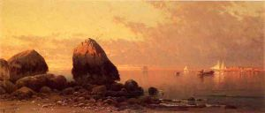 Evening at Scituate-Low Tide - Alfred Thompson Bricher Oil Painting