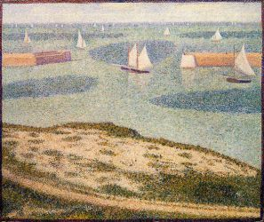 Port-en-Bessin, Entrance to the Outer Harbor - Georges Seurat Oil Painting