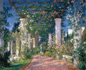 Pergola at the Hotel Samarkand, Santa Barbara - Colin Campbell Cooper Oil Painting