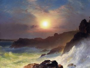 Coast Scene, Mount Desert - Frederic Edwin Church Oil Painting
