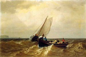 Fishing Boat in the Bay of Fundy - William Bradford Oil Painting