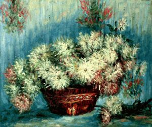 Chrysanthemums II - Claude Monet Oil Painting