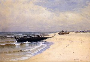 Low Tide III - Alfred Thompson Bricher Oil Painting