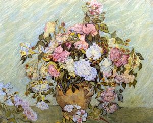 Vase with Roses - Vincent Van Gogh Oil Painting