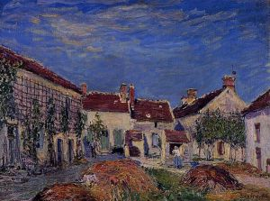 Courtyard at Les Sablons - Alfred Sisley Oil Painting